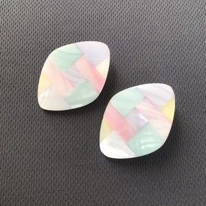 AVON vintage earrings mother pearl multicolored 🌟